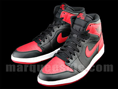 best service ab73b 6c88a Nike Air Jordan 1 Retro Hi OG Bred Black Varsity Red White 555088-023