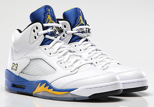 Nike Air Jordan V Laney White Varsity Maize Varsity Royal Black Sneakers 136027-189