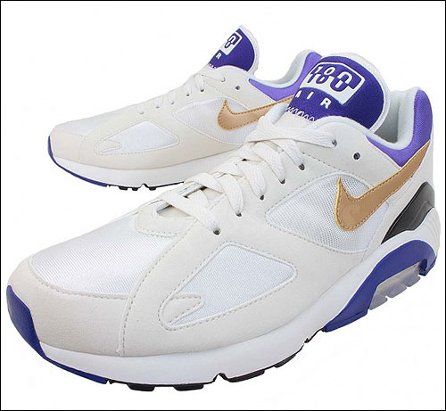 Nike Air Max 180 Summit White Metallic Gold Bright Concord 626960-175