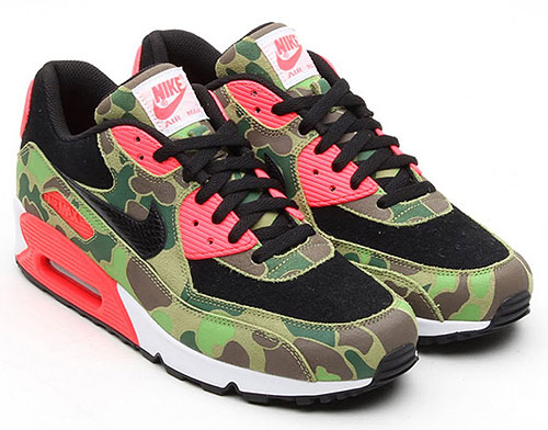 Nike Air Max 90 Premium Duck Hunter Camo Infrared Sneakers 333888-025