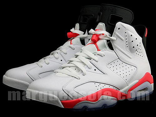 Nike Air Jordan 6 White Infrared Black Sneakers 384664-123